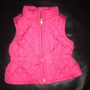 Pink quilted vest